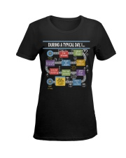 During a typical day Ladies T-Shirt women-premium-crewneck-shirt-front