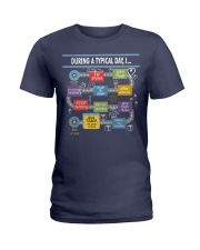 During a typical day Ladies T-Shirt tile