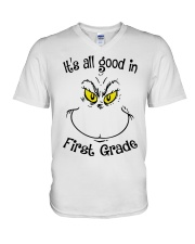 IT'S ALL GOOD IN FIRST GRADE V-Neck T-Shirt thumbnail
