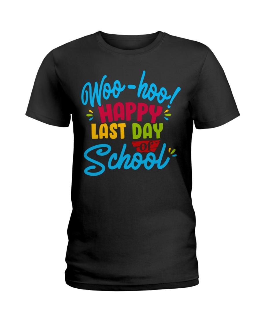 Woo-hoo happy last day of school Ladies T-Shirt