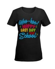 Woo-hoo happy last day of school Ladies T-Shirt women-premium-crewneck-shirt-front