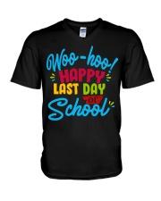 Woo-hoo happy last day of school V-Neck T-Shirt thumbnail