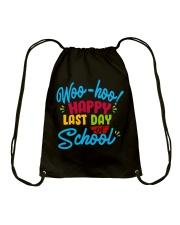 Woo-hoo happy last day of school Drawstring Bag thumbnail