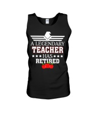 A Legendary Teacher Has Retired Unisex Tank tile