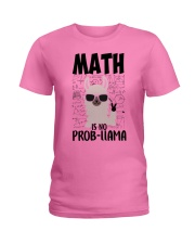 Math is no Prob-Llama Ladies T-Shirt tile