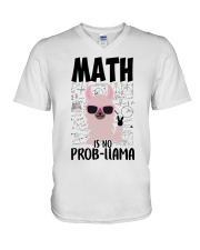 Math is no Prob-Llama V-Neck T-Shirt thumbnail