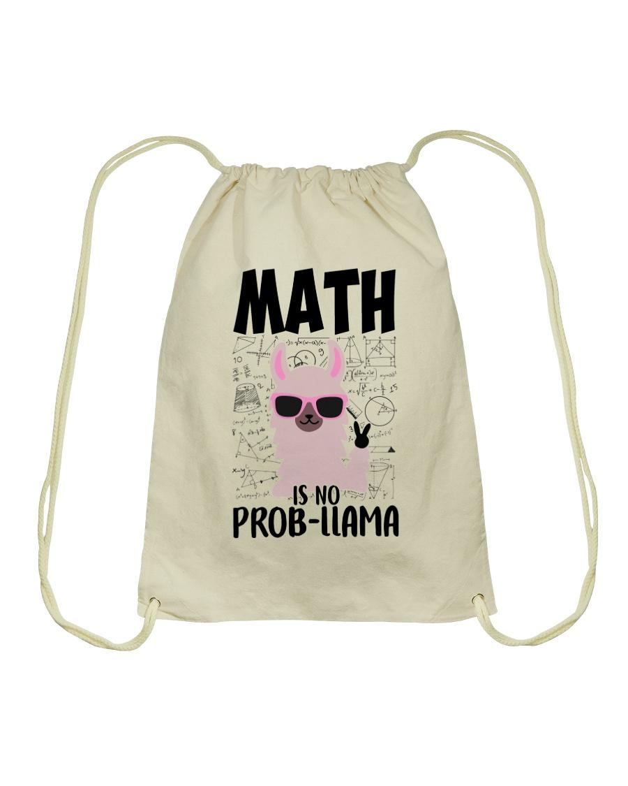 Math is no Prob-Llama Drawstring Bag