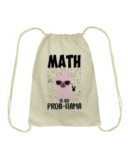 Math is no Prob-Llama Drawstring Bag thumbnail