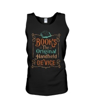 Books the original handheld device Unisex Tank thumbnail