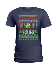 ALL BOOKED UP FOR THE HOLIDAYS Ladies T-Shirt thumbnail