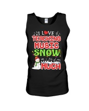 I LOVE TEACHING MUSIC SNOW MUCH Unisex Tank tile