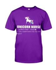 UNICORN NURSE Classic T-Shirt front