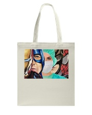 Superheroes wear masks Tote Bag thumbnail