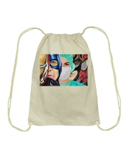 Superheroes wear masks Drawstring Bag thumbnail