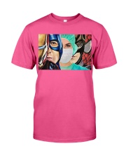 Superheroes wear masks Classic T-Shirt thumbnail