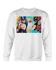 Superheroes wear masks Crewneck Sweatshirt tile
