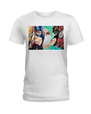 Superheroes wear masks Ladies T-Shirt front