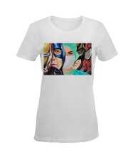 Superheroes wear masks Ladies T-Shirt women-premium-crewneck-shirt-front