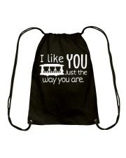 I LOVE YOU JUST THE WAY YOU ARE Drawstring Bag thumbnail