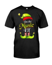 I'M THE MUSIC ELF Classic T-Shirt front