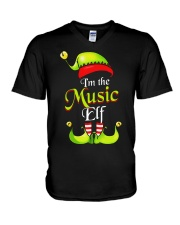 I'M THE MUSIC ELF V-Neck T-Shirt thumbnail