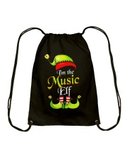 I'M THE MUSIC ELF Drawstring Bag thumbnail