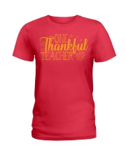 ONE THANKSFUL TEACHER Ladies T-Shirt tile