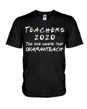 Teachers 2020 - QUARANTEACH V-Neck T-Shirt thumbnail