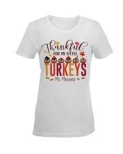 THANKFUL FOR MY LITTLE TURKEYS  Ladies T-Shirt women-premium-crewneck-shirt-front