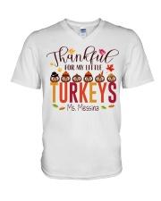 THANKFUL FOR MY LITTLE TURKEYS  V-Neck T-Shirt thumbnail