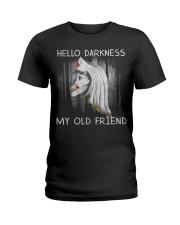 Hello Darkness My Old Friend Ladies T-Shirt thumbnail