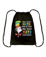 I WILL TEACH MATH EVERYWHERE Drawstring Bag thumbnail