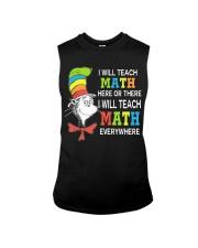 I WILL TEACH MATH EVERYWHERE Sleeveless Tee thumbnail