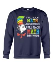 I WILL TEACH MATH EVERYWHERE Crewneck Sweatshirt thumbnail