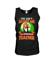 YOU CAN'T SCARE ME I'M A KINDERGARTEN TEACHER Unisex Tank thumbnail