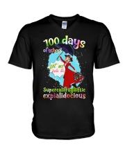 100 DAYS OF SCHOOL SUPERCALIFRAGILISTIC V-Neck T-Shirt thumbnail