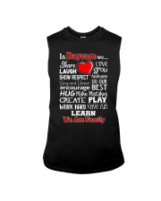In Daycare We are Family Sleeveless Tee thumbnail
