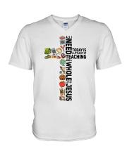 A little bit of Teaching V-Neck T-Shirt thumbnail