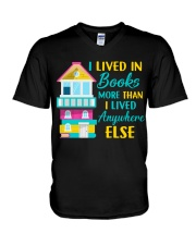I Lived in Books more than i lived anywhere else V-Neck T-Shirt thumbnail