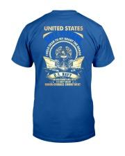 United States Navy Veteran Classic T-Shirt back