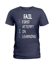 FIRST ATTEMPT IN LEARNING Ladies T-Shirt thumbnail