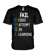 FIRST ATTEMPT IN LEARNING V-Neck T-Shirt thumbnail