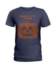 WE MAKE MATH SO FUN IT'S SPOOKY Ladies T-Shirt thumbnail