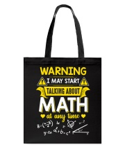 Talking about Math at any time Tote Bag thumbnail