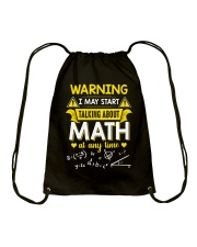 Talking about Math at any time Drawstring Bag thumbnail