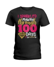 I SPARKLED MYWAY THROUGH 100 DAYS Ladies T-Shirt thumbnail