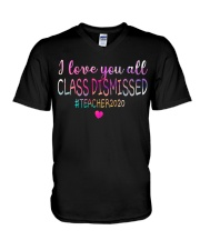 all class dismissed Teacher2020 V-Neck T-Shirt thumbnail