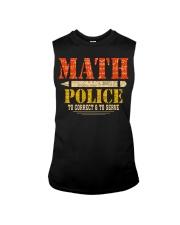 MATH POLICE TO CORRECT AND TO SERVE Sleeveless Tee thumbnail