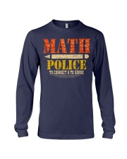 MATH POLICE TO CORRECT AND TO SERVE Long Sleeve Tee thumbnail