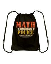 MATH POLICE TO CORRECT AND TO SERVE Drawstring Bag thumbnail
